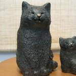 黒猫親子(信楽焼)