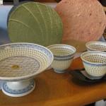 水晶彫青海波と蛍清流(有田焼)