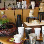 水晶彫りカップと蛍彫りの煎茶茶碗