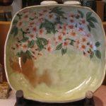 淡織部桜角鉢(土渕陶あん)京焼き・・・と
