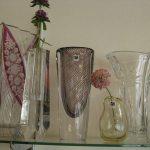 手づくりの硝子花瓶