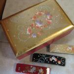 山中塗の宝石箱とバレッタ