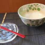 夏の抹茶茶盌 風船かずら他